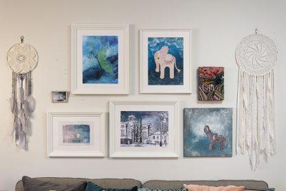 Tunnelmakuvia unisiepparit, taidejulisteet ja taideteokset